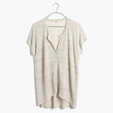 Linen Interlude Sweater in Heather Dove - HTHR DOVE