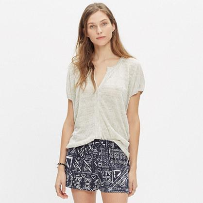 Linen Interlude Sweater in Heather Dove