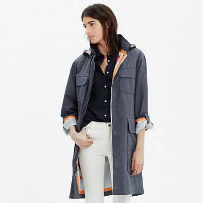 Woolrich® White Cocoon Raincoat