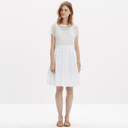Geo-Lace Eyelet Dress