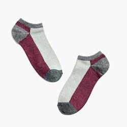 Marled Colorblock Anklet Socks