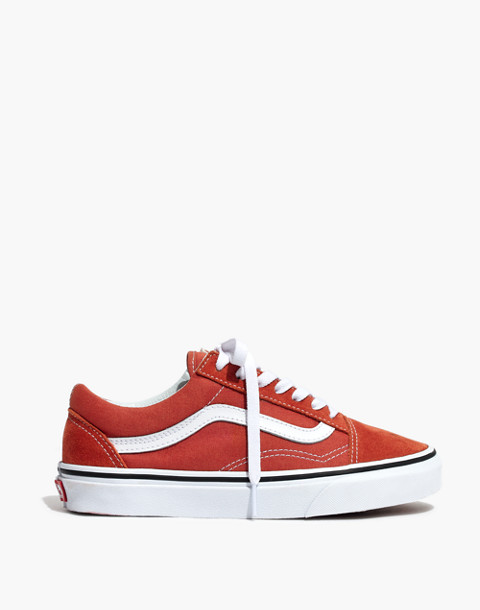 Vans® Unisex Old Skool Lace-Up Sneakers in hot sauce/true white image 3