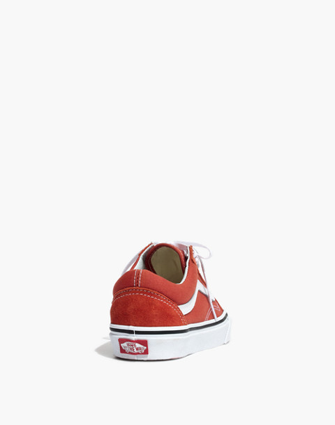 Vans® Unisex Old Skool Lace-Up Sneakers in hot sauce/true white image 4