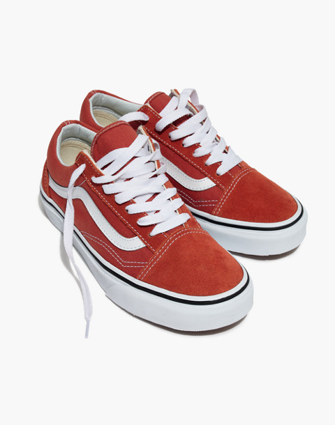 Vans® Unisex Old Skool Lace-Up Sneakers in hot sauce/true white image 1