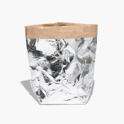 Essent'ial™ Il Sacchino Medium Paper Bag in Silver