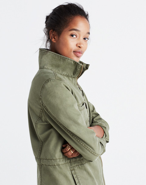 Fleet Jacket in desert olive image 2