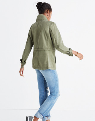 Fleet Jacket in desert olive image 3