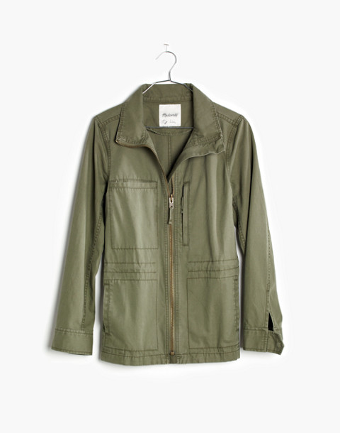 Fleet Jacket in desert olive image 4