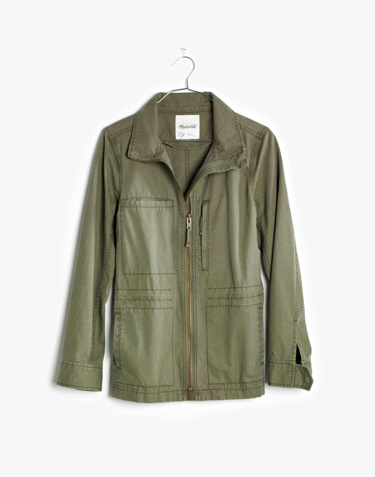 Fleet Jacket in desert olive image 4