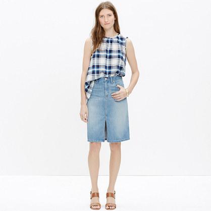 Denim High-Rise Skirt : mini | Madewell