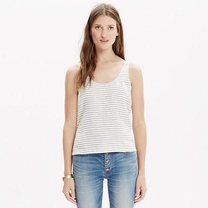 Linen Crop Top in Stripe