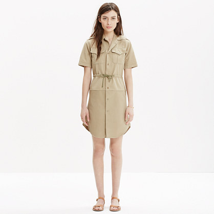 M-82 for Madewell by George McCracken Cargo Shirtdress