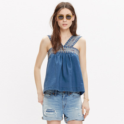Embroidered Siesta Top