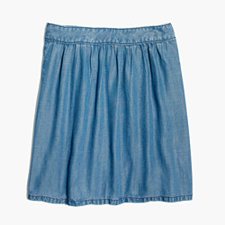 Faded Indigo Skirt
