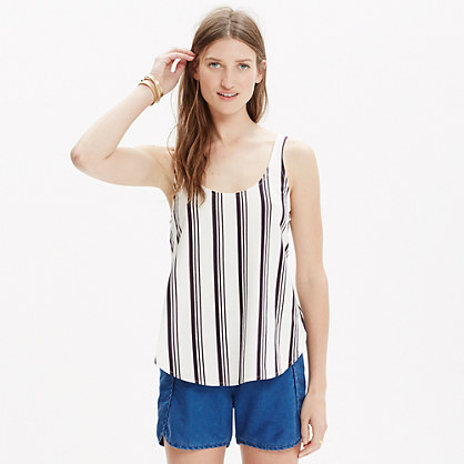 Singlet Side-Slit Tank in Stripe
