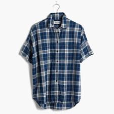 Courier Shirt in Blue Plaid - INDIGO PLAID