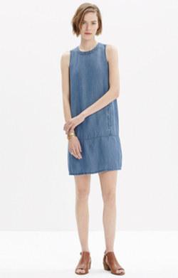 Denim Sleeveless Mini Dress