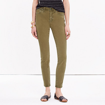 "9"" High-Rise Skinny Crop Jeans: Colorwash Edition"