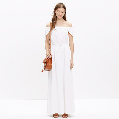 Off-the-Shoulder Maxi Dress : midi & maxi dresses | Madewell