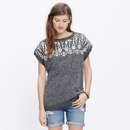 Embroidered Tunic Sweater