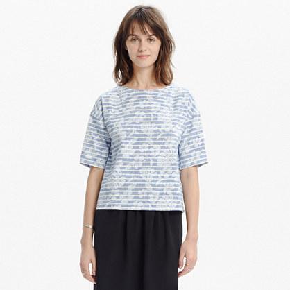 Rivet & Thread Button-Shoulder Crop Shirt