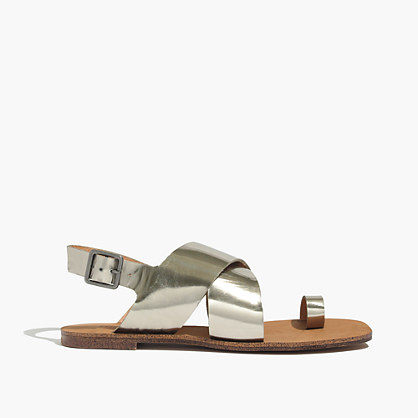 The Edie Metallic Sandal
