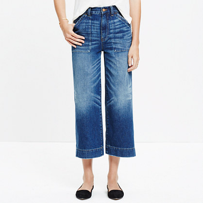 Wide-Leg Crop Jeans : demi-boots & wide-leg jeans | Madewell
