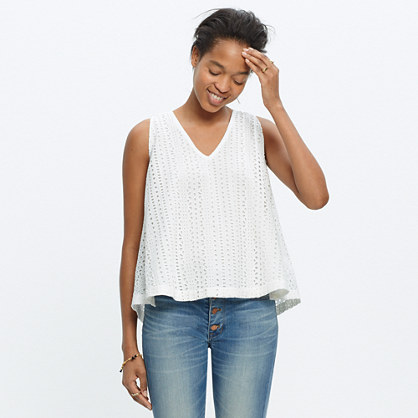Eyelet Swing-Back Top