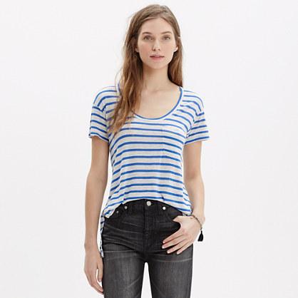 Anthem Short-Sleeve Scoop Tee in Stripe