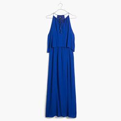 Flutter-Back Overlay Maxi Dress