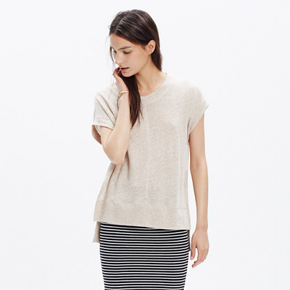 Linen Side-Vent Tunic Tee