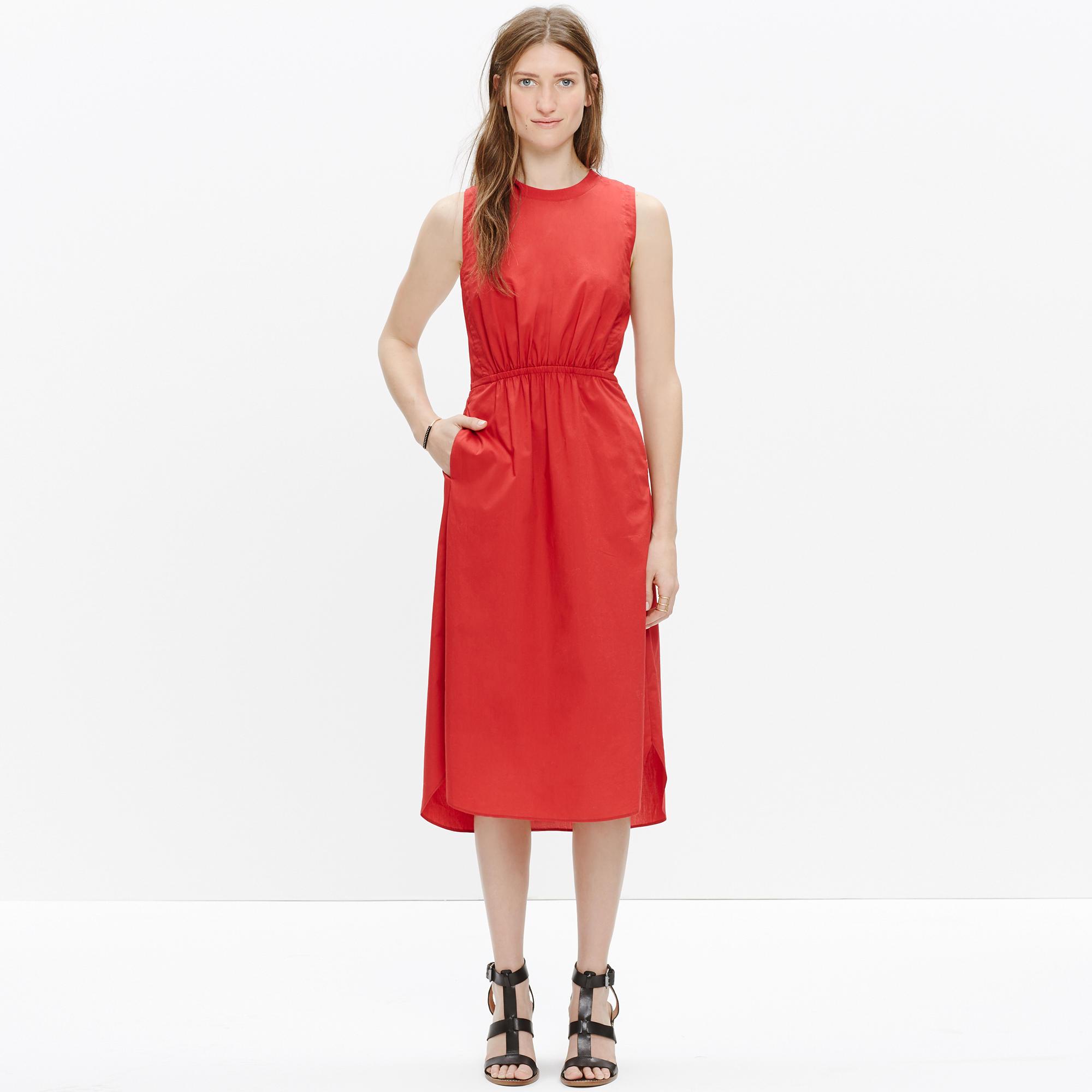 Cotton Lakeshore Midi Dress : midi &amp- maxi dresses - Madewell