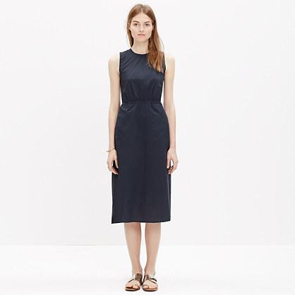 Cotton Lakeshore Midi Dress in Onyx