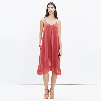Silk Sheer-Stripe Cami Dress
