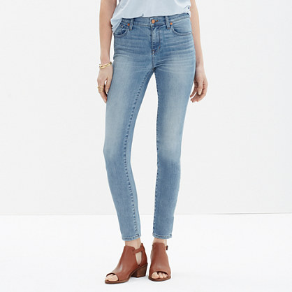 High Riser Skinny Skinny Crop Jeans in Mazzy Wash : high-rise ...