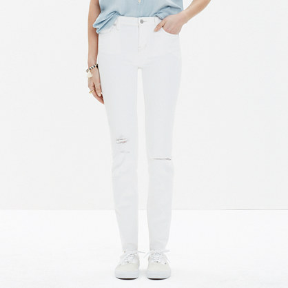 Alley Straight Cut-Edge Jeans in Pure White : alley straight jeans ...