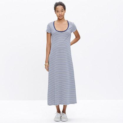 Striped Swingy T-Shirt Dress