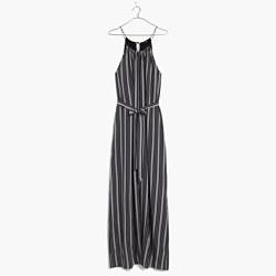 Silk Maxi Dress in Stripe