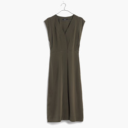 Silk Stitch-Edged Dress