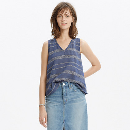 Swing-Back Tank Top in Artist Stripe