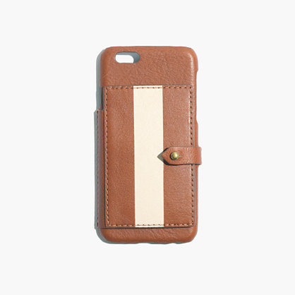 madewell iphone case leather wallet for iphone 174 6 in paintstripe tech 12603