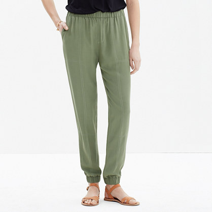 Pull-On Track Pants in Palm Tree
