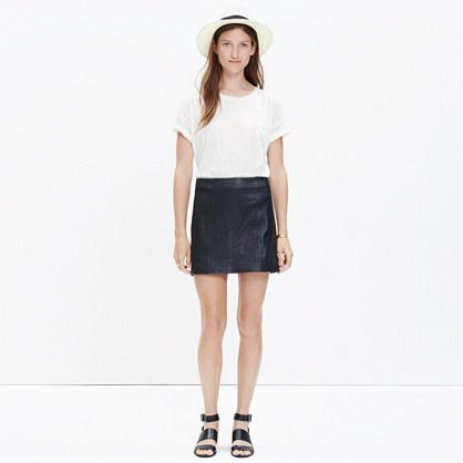 madewell et s 233 zane 174 leather mini skirt mini madewell