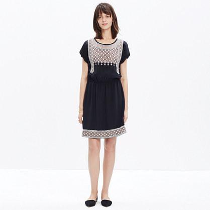 Silk Embroidered Starflower Dress