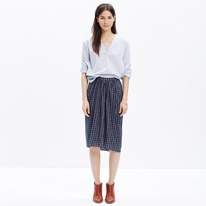 Plaid Midi Skirt : midi & maxi | Madewell