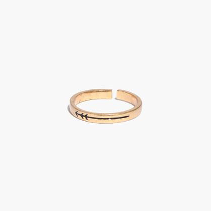 Tiny Arrow Midi Ring