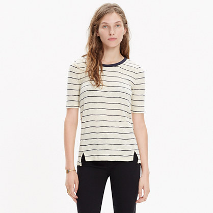Soundcheck Ringer Tee in Wide Stripe