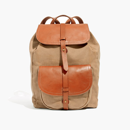 The Transport Rucksack in Waxed Canvas