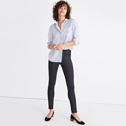 "Tall 9"" High-Rise Skinny Jeans: Coated Edition"