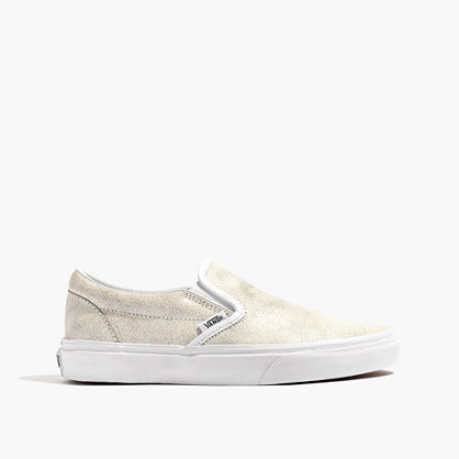 Vans® Classic Slip-On Sneakers in Crackle Leather